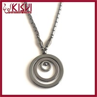 fashion hoop pendant necklace
