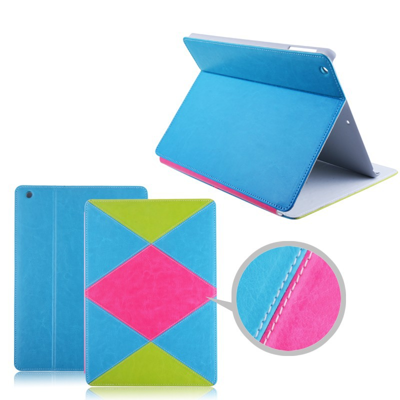 Stand Leather Smart Cover For Ipad Mini with custom design