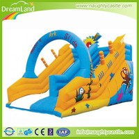 Commercial inflatable double lane slip slide / giant slip and slide
