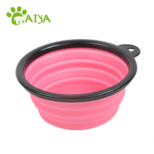 Free sample collapsible travel suction cup pet water bowl