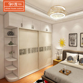China manufacturer new fancy french door wooden sliding door wardrobe armoire