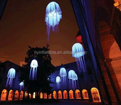 2015 decoration led light jellyfish for party decoration, inflatable jellyfish balloon