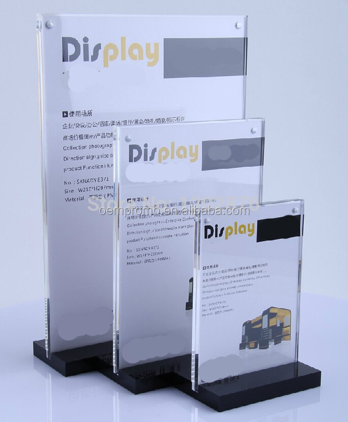 A5 Acrylic Magnetic Table Display Sign Holder