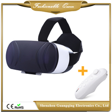 Wholesale Google Virtual Reality VR Box Case Headset 3D VR Viewer with Bluetooth Controller