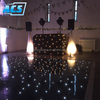 portable black starlit wedding led dance floor