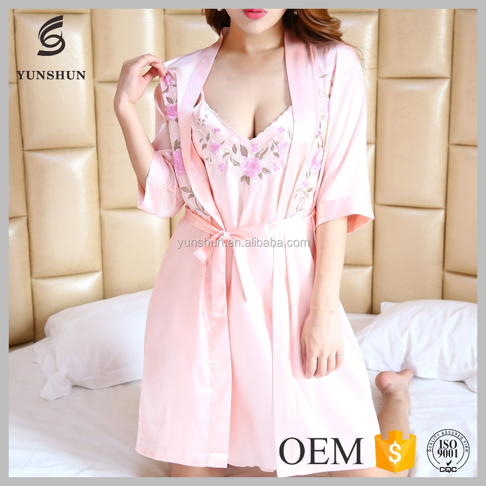 Women Silk Satin Pajamas Set PJS Sleepwear mature Loungewear