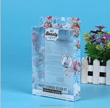 Custom folding transparent clear PET plastic gift packaging box