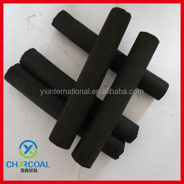 Long burning time pure bamboo charcoal briquette for hookah with factory price