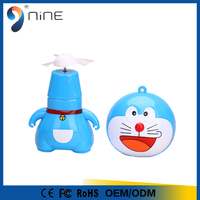 2016 summer hot selling wireless mini fan cartoon for office and travel