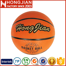 HB018 all size outdoor rubber basketball for matching