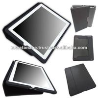 Black iPad Case ( iPad 2 and iPad 3 ) : Japanese stylish iPad case with PU leather and silicone