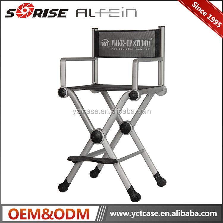 Professional salon hair dressing portable aluminum makeup chairs