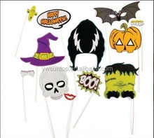 Newest 11 pcs Halloween fashion show props paper photo props