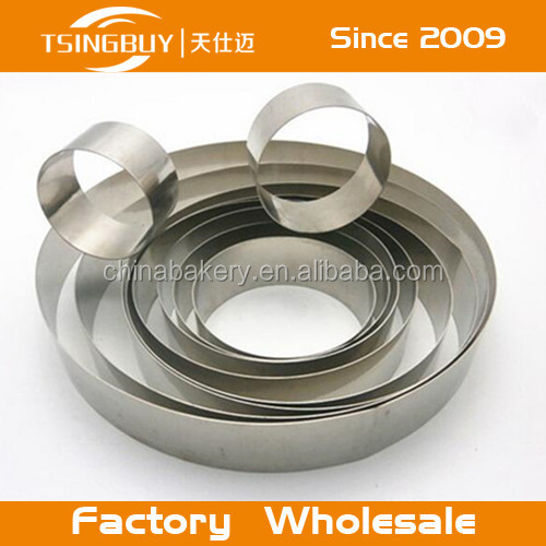 Pastry Accessories round shape Stainless steel mousse cake ring