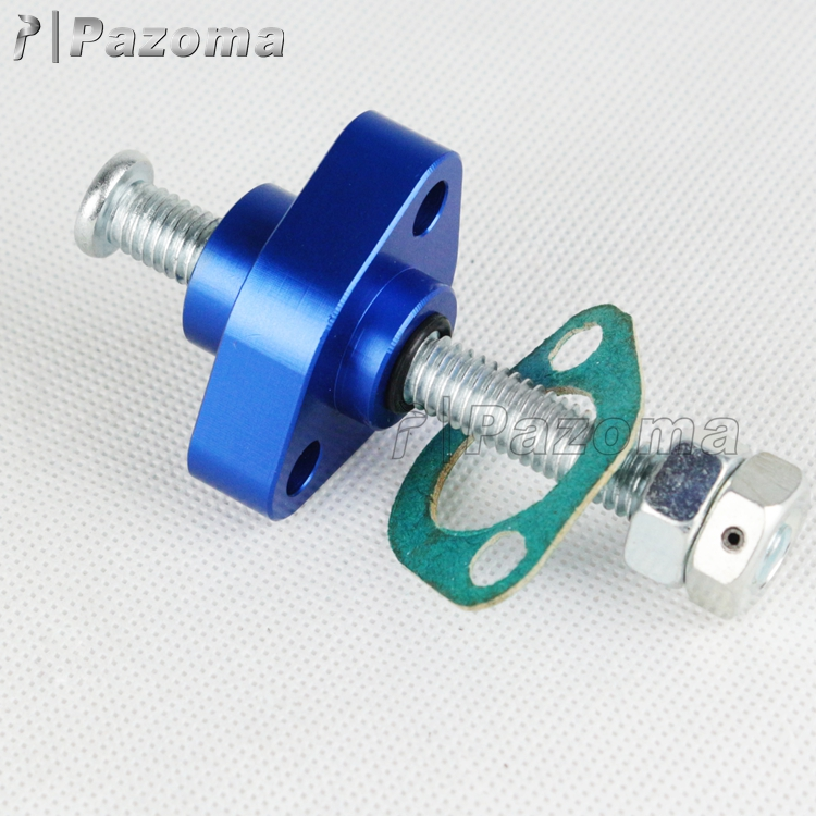 Wholesale PAZOMA High Quality Aluminum Blue CNC Manual Cam Timing Motorcycle Chain Tensioner For Honda 87-92 TRX 250X
