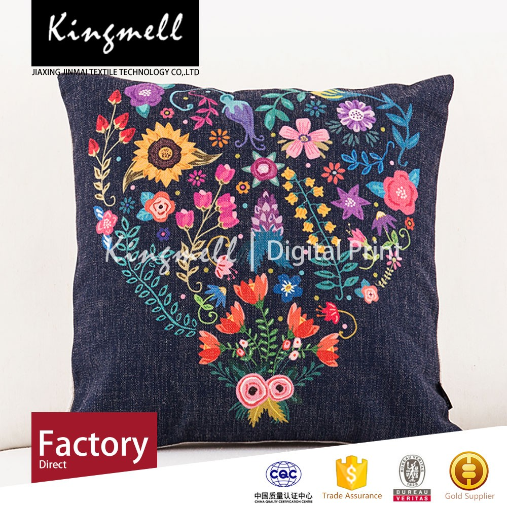 2015 fashion embroidery design digital printing vintage outdoor hanging chair cushion pillow
