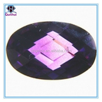 any shaped purplish red cz zircon stone