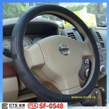 Luxury Feel Unique Design Genuine Leather Car Steering Wheel Cover