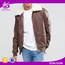 Hot Sale Leather Men's Jacket Fashion Elegant Coat Sexy Top Designed Slim Fit Casual genuine leather jacket