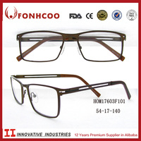 FONHCOO Brands New Style Wholesale Shop Hollow Out Rim Glasses Optical Frame