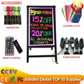 2016 Alibaba Wholesale LED writing board with its own stand best for shop promotion and painting