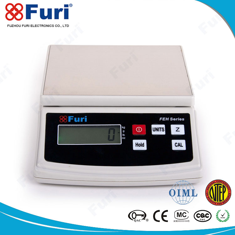 Furi Plastic housing 1kg/0.1g 3kg/0.5g 6kg/1g kitchen balance weighing scales
