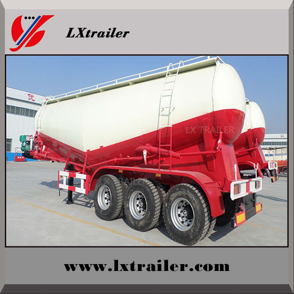 Stainless steel bulker cement tank truck semi trailer for sale