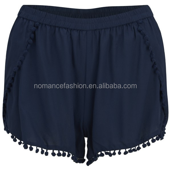 wholesale women viscose spandex mini shorts
