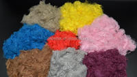 colored dope dyed recycled fiber polyester staple fiber