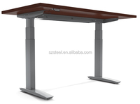 Two legs electric stand up desk for office working