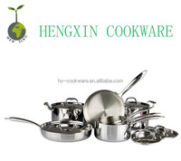 13pcs clad Stainless Steel cookware from turkey