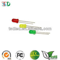 Rohs Approved LED 3mm diffused coloured Red/Green/Yellow 3mm led