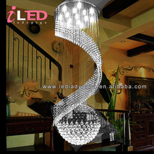 D500*H1500mm Super Luxury and modern home and hotel crystal led modern modern white glass chandeliers
