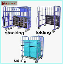 Steel Stainless Roll Cage for Warehouse & Supermarket