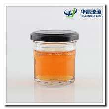 Small glass caviar container 60ml with tin lid
