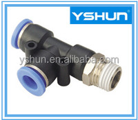 YSHUN Factory supply Push in Fittings PD Male Run Tee Pneumatic Fittings tube fittings