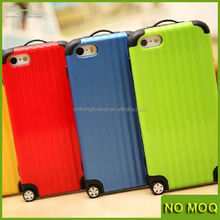 New fashion suitcase luggage bag shape tpu phone case for iphone 5 5s