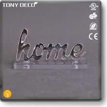 KAA60417V Large Metal Home Design Signage 3D Letter With Acrylic Base