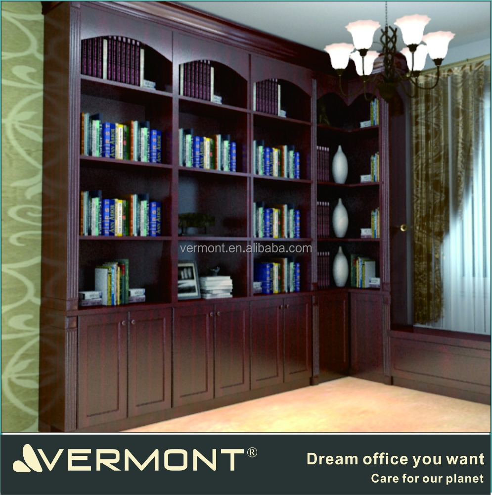 Luxury solid wood home furniture bookcase