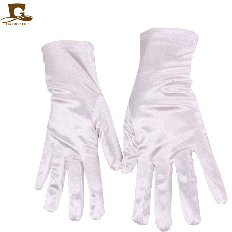 Women Stretch Satin <strong>Gloves</strong> Wrist Elbow Opera Evening Party Fancy Costume Satin Wedding <strong>Gloves</strong> Satin Wedding <strong>Gloves</strong> ST-36