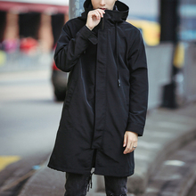 Mens Clothing Factory Hooded Casual Plain Longline Bomber Jackets Men 2017