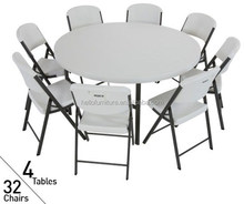 4ft round extending office table, portable round table for discussion, lecture, meeting