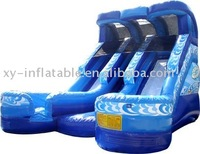 inflatable slip slide double water double sided inflatable water slide