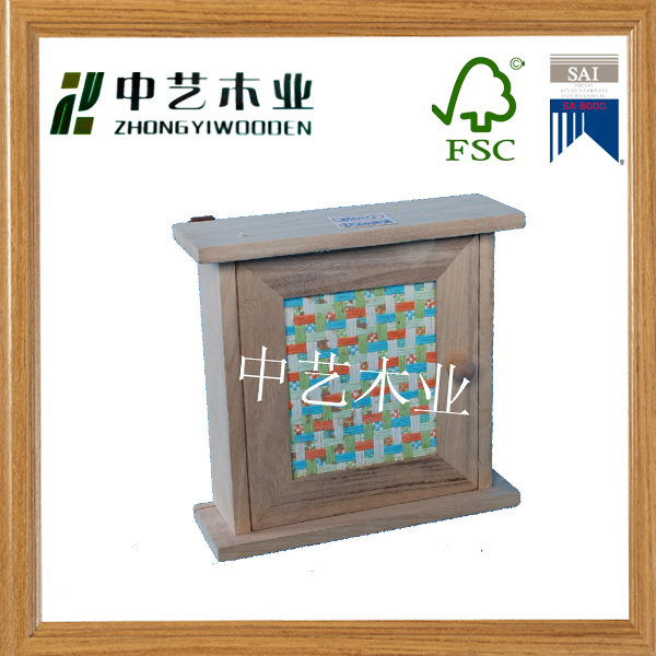 Wall Mount Letter Rack Holder Mail Organizer Wood Storage Home Key Box Bamboo