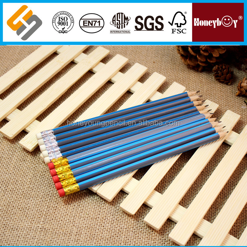 high quality double eraser soft wooden pencil