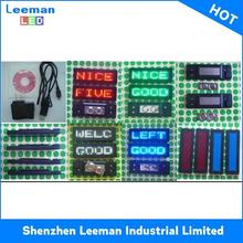 magnetic name badge program moving message red p10 led panel