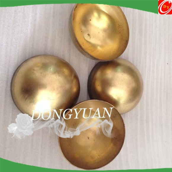 hollow brass ball polished 25mm 30mm 35mm , hollow brass hemisphere