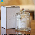 Bell Jar Glass Dome Cover mercury Scented candle with Glass Dome Pacific Blue