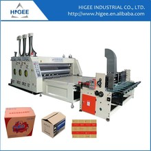 Shanghai factory automatic 2 colors paper feeder printing and slotting machine carton box making