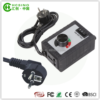 2017 CE FCC SAA certification EU standard fan speed controller- 230V- 1000W / 1500W / 2000W